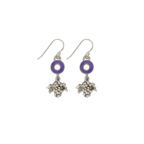 Purple Grape Earrings - SamandNan