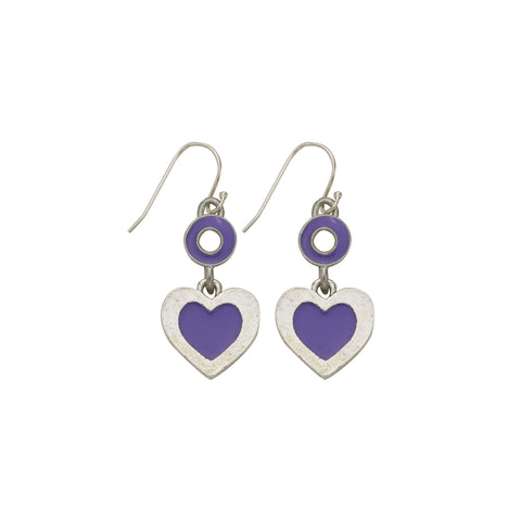 Heart Purple Earrings - SamandNan