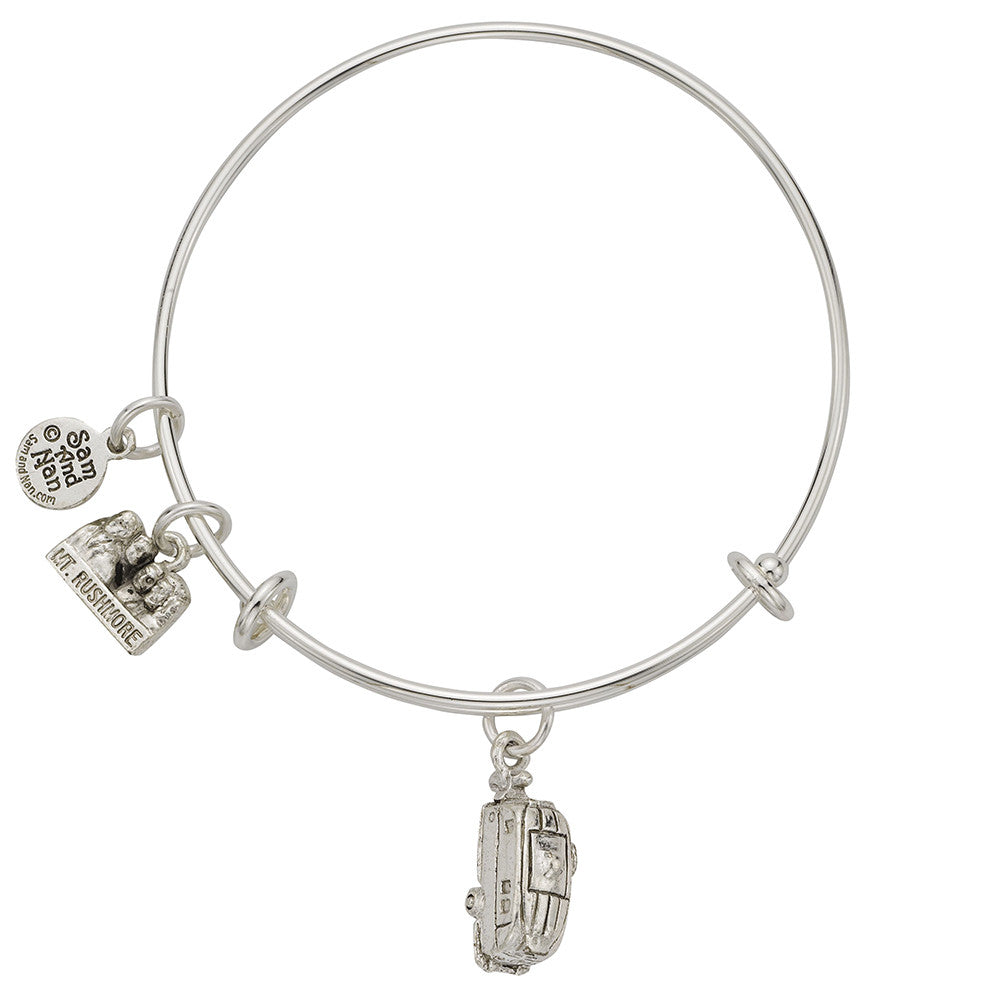 R.V. Bike Charm Bangle Bracelet - SamandNan