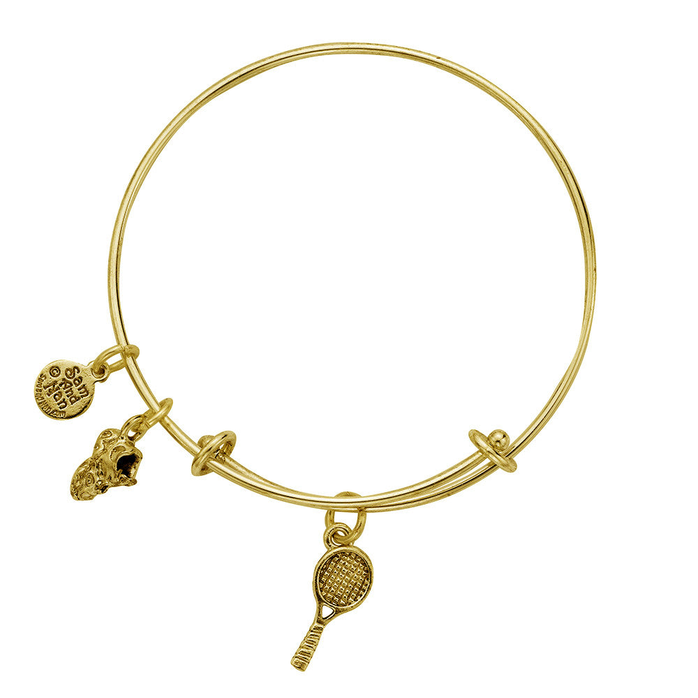 Tennis Racket Sneaker Charm Bangle Bracelet - SamandNan - 2