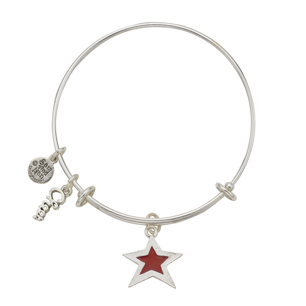Red Star Cheer Bangle Bracelet - SamandNan