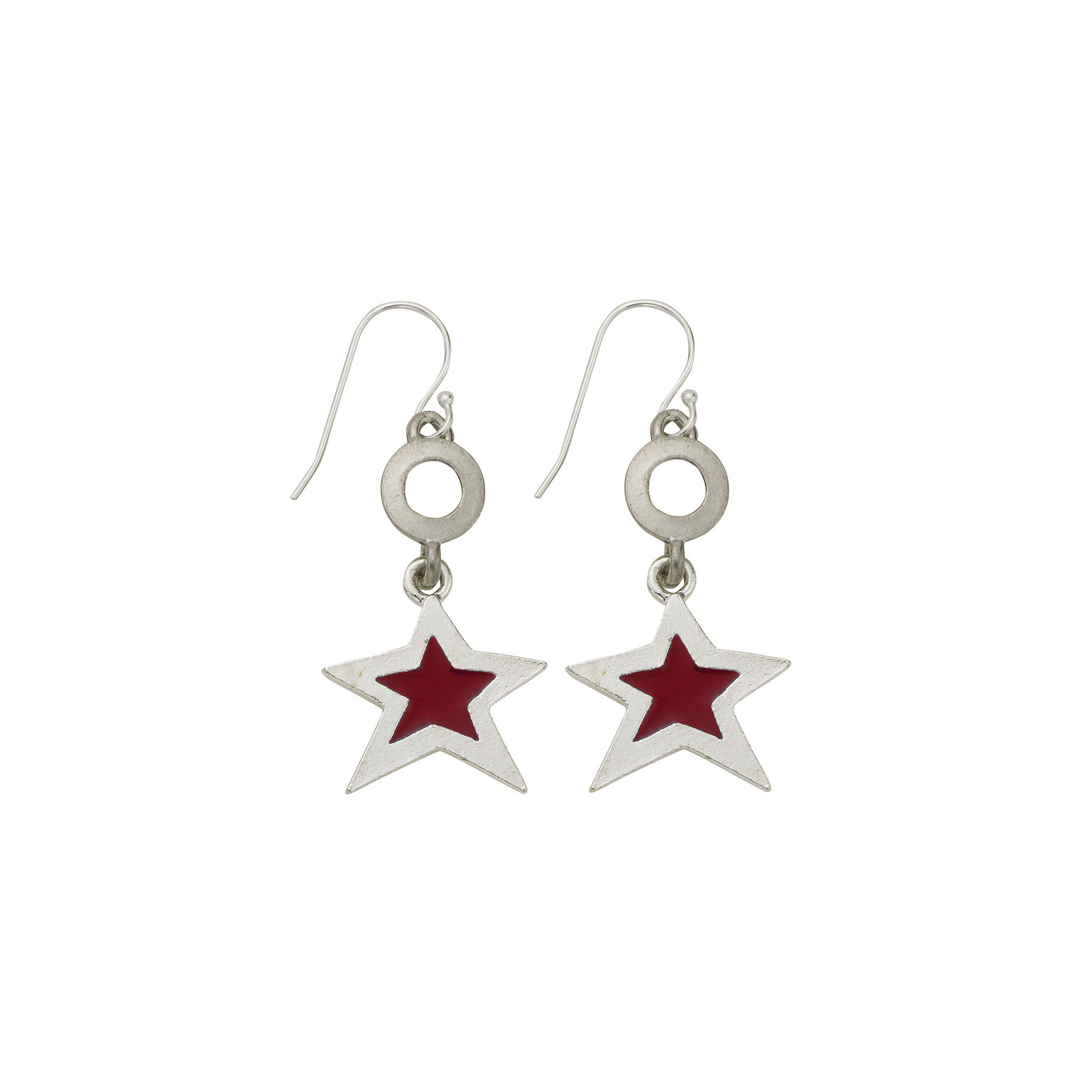 Red Star Open Cup Earring - SamandNan