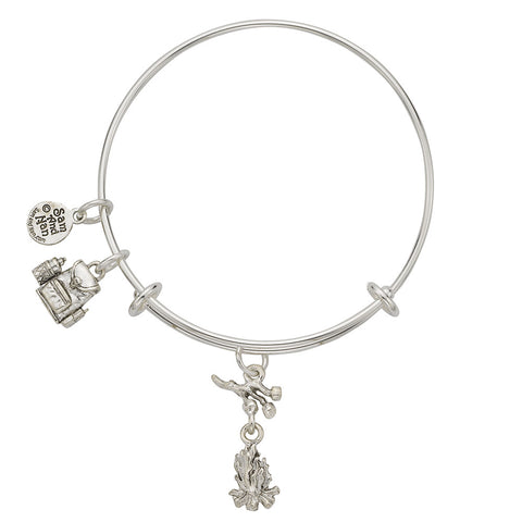 Marshmallow Stick Backpack Charm Bangle Bracelet - SamandNan