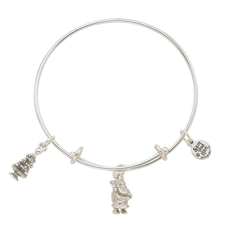 Santa Christmas Tree Bangle Bracelet - SamandNan