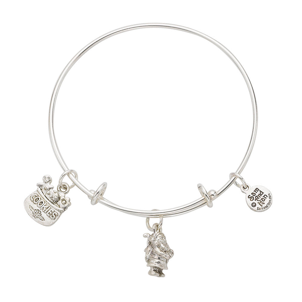 Santa Cookies Bangle Bracelet - SamandNan