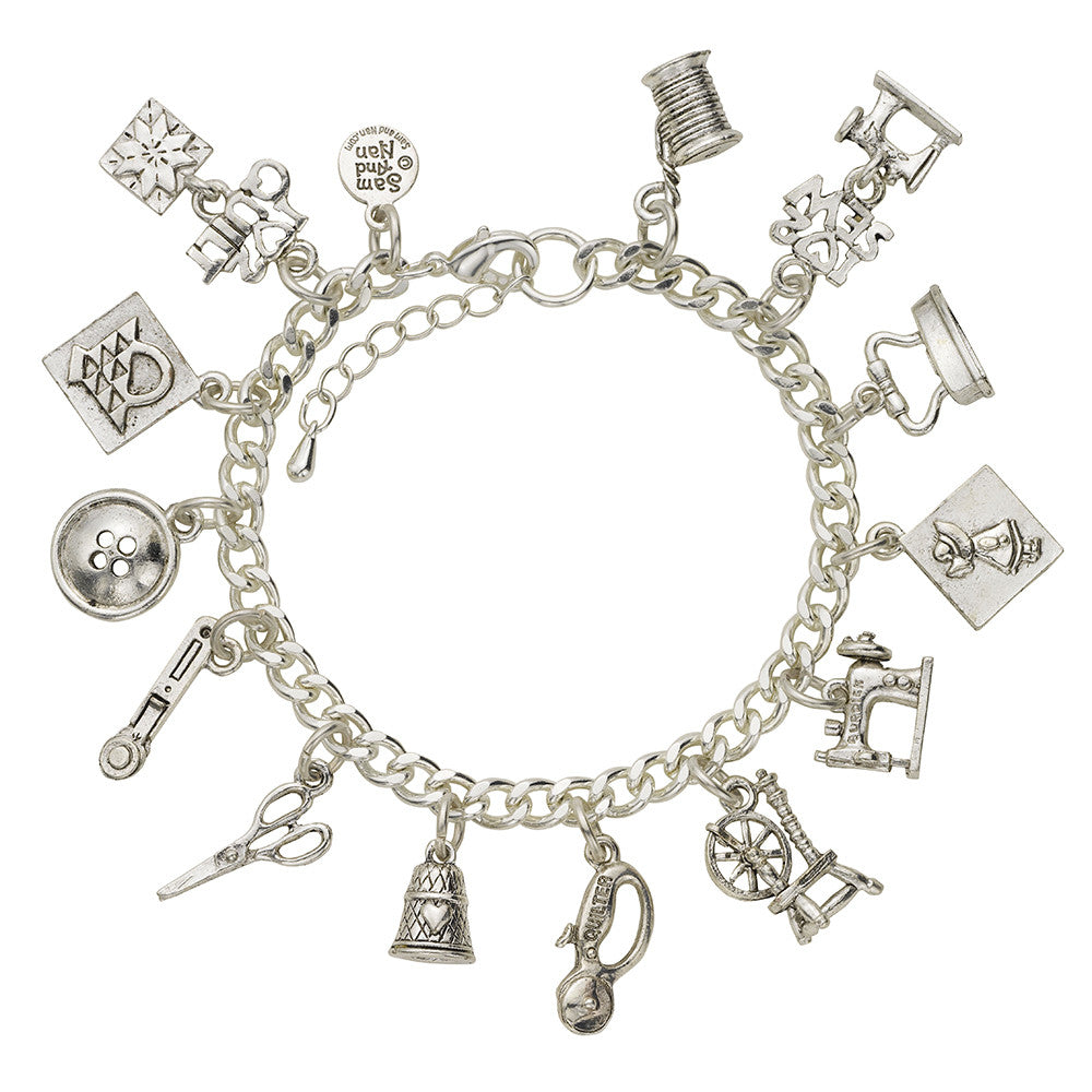 Sewing and Quilting Charm Bracelet - SamandNan