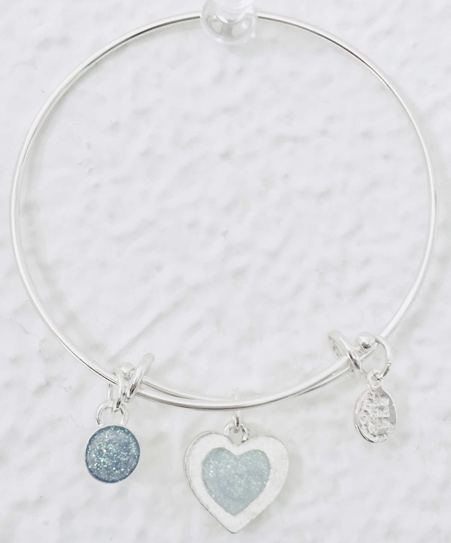 Valentine Silver Heart Bangle Bracelet