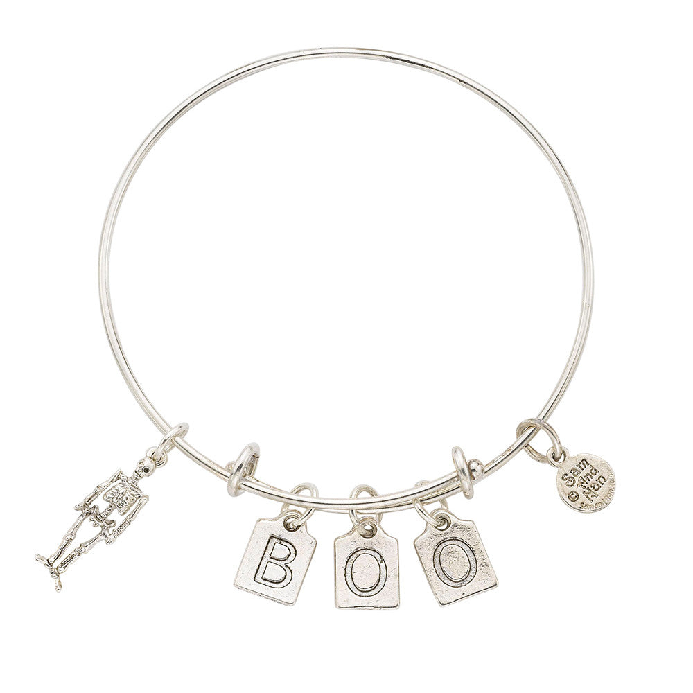 Skeleton - BOO Bangle Bracelet - SamandNan