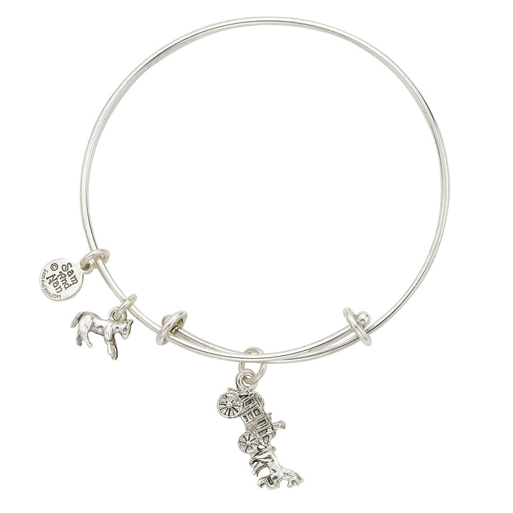 Stagecoach Mini Horse Bangle Bracelet - SamandNan