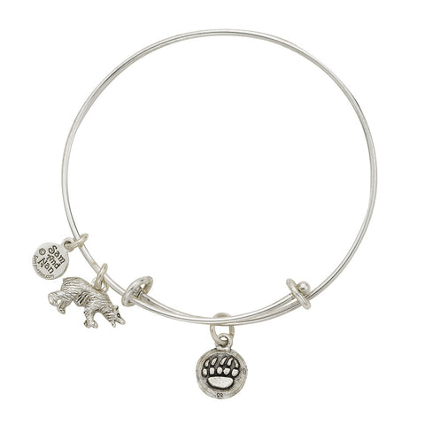 Bear Paw Charm Bangle Bracelet - SamandNan