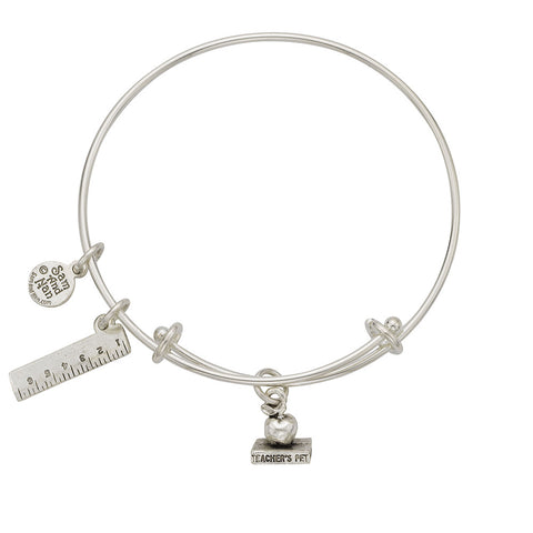 Teacher's Pet - Ruler Charm Bangle Bracelet - SamandNan