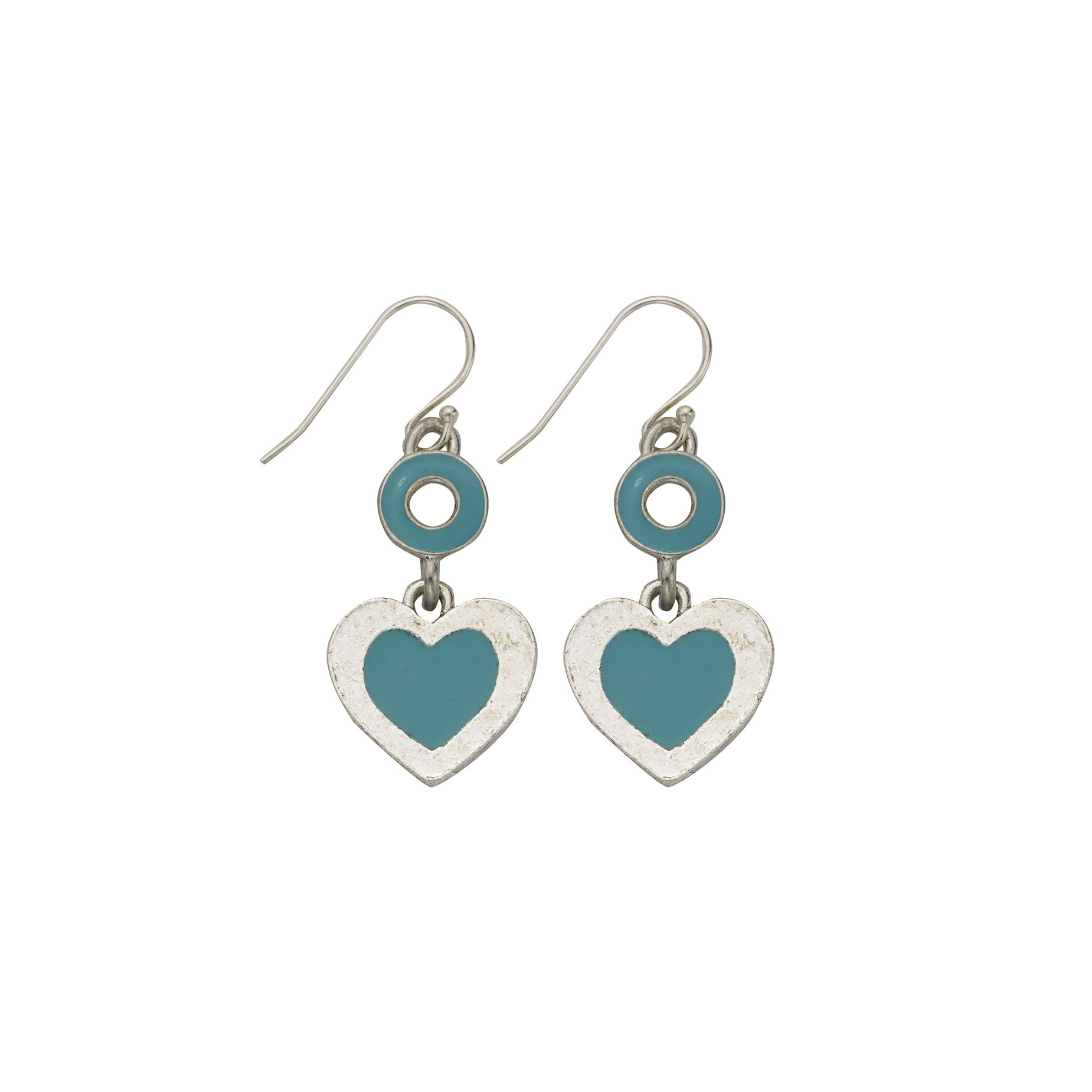 Heart Teal Earrings - SamandNan