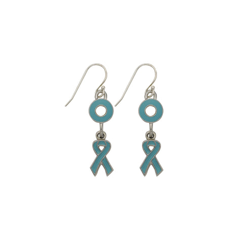 Ovarian Cancer Earrings Teal - SamandNan
