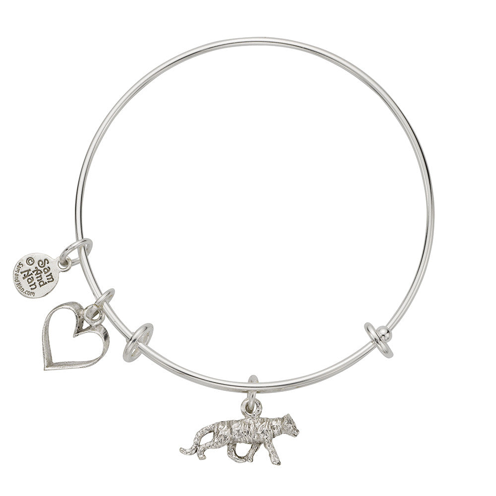 Tiger Charm Bangle Bracelet - SamandNan