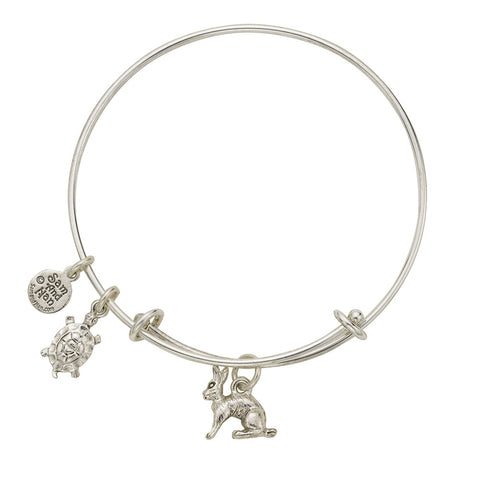 Tortoise and Hare Charm Bangle Bracelet - SamandNan - 1
