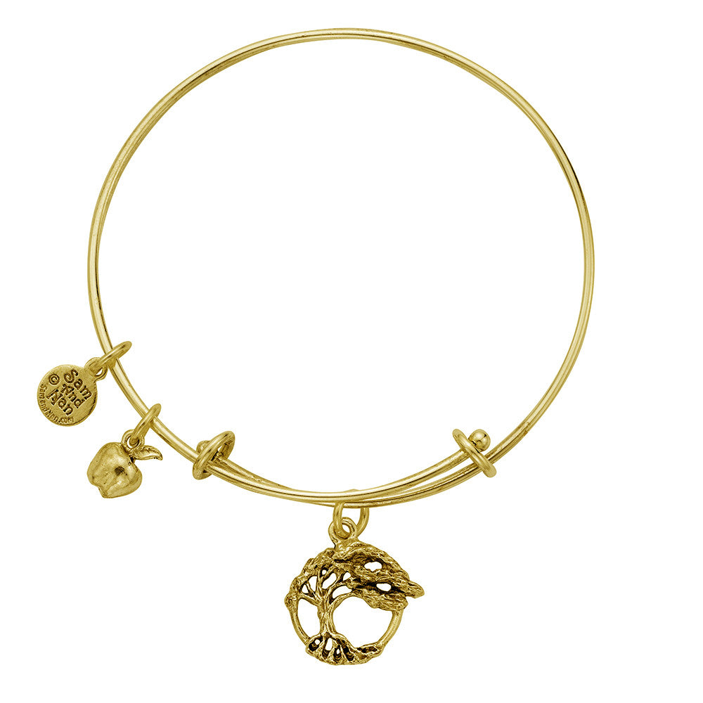 Tree Of Life Apple Charm Bangle Bracelet - SamandNan - 2