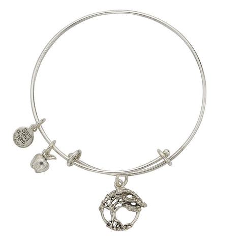 Tree Of Life Apple Charm Bangle Bracelet - SamandNan - 1
