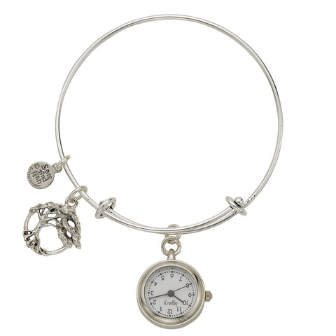 Tree of Life Pendant Watch Silver Bangle Bracelet - SamandNan