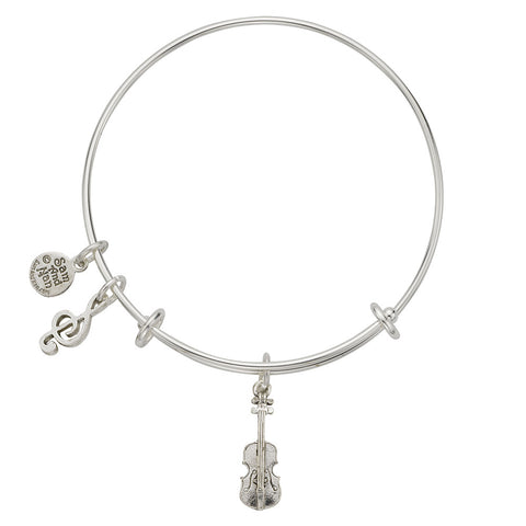 Violin Charm Bangle Bracelet - SamandNan