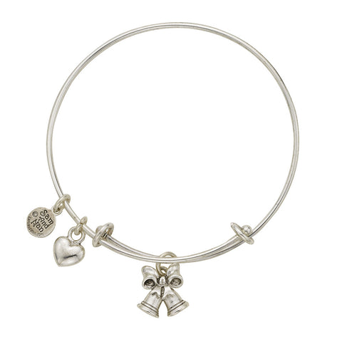 Wedding Bells Charm Bangle Bracelet - SamandNan - 1