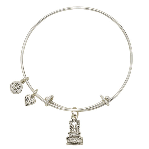 Wedding Cake Charm Bangle Bracelet - SamandNan - 1