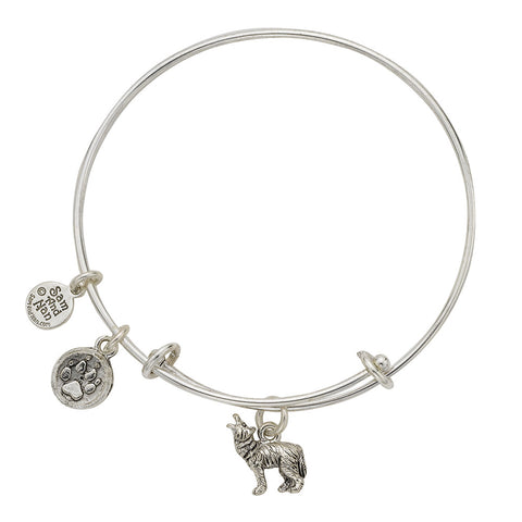 Wolf Paw Bangle Bracelet - SamandNan