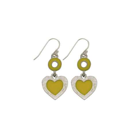 Heart Yellow Earrings - SamandNan