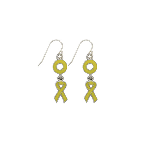 Sarcoma Bone Bladder Cancer Earrings Yellow - SamandNan