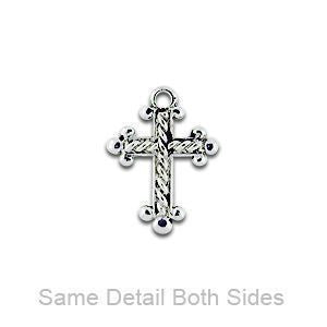 Roped Cross Silver Charm - SamandNan