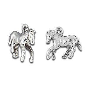 Sterling Silver Plated Horse Charms - SamandNan