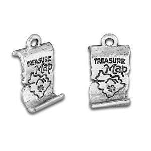 Pirate Treasure Map Charm - SamandNan