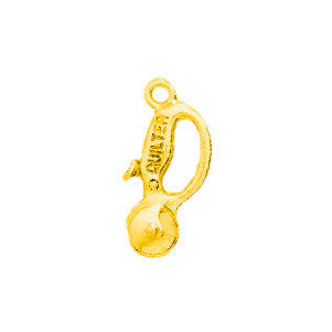 Quilt Cutter Plated Gold Charms - SamandNan