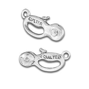 Quilt Cutter Sterling Silver Plated Charms - SamandNan