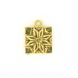 Gold Charm Quilt Patch Antique Gold - SamandNan