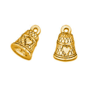 Thimble Gold Plated Charms - SamandNan