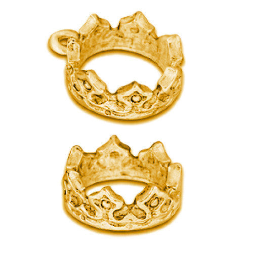 Crown Gold Plated Charms - SamandNan
