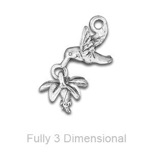 Linked Hummingbird with Flower Charm - SamandNan