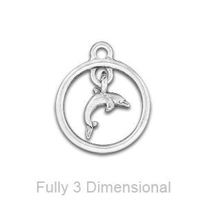 Dolphin Through Hoop Linked Charm - SamandNan