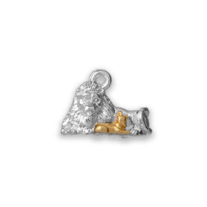 Two Tone Silver and Gold Lion and Lamb - SamandNan