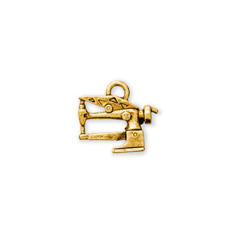 Gold Long Arm Sewing Machine Charm - SamandNan