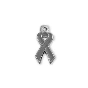 Grey Brain Cancer Ribbon - SamandNan