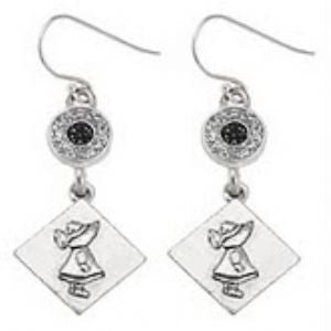 Dutch Girl Earring-Sterling Earwires-Sterling Silver Plated Charms - SamandNan