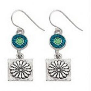 Daisy Earring-Sterling Earwires-Sterling Silver Plated - SamandNan