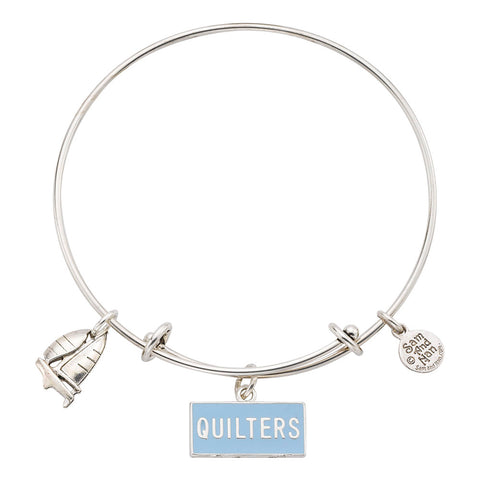 Nautical Quilters Sailboat Charm Bangle Bracelet - SamandNan