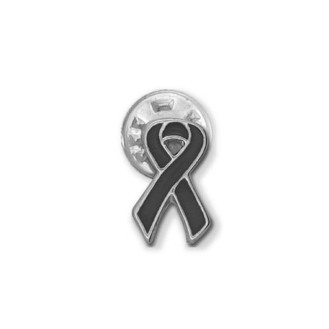 Black Melanoma Ribbon Stick Pin - SamandNan