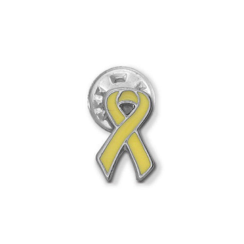 Yellow Sarcoma Ribbon Stick Pin - SamandNan