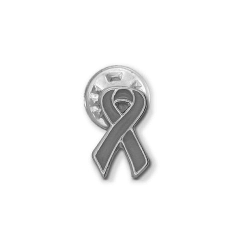 Grey Brain Cancer Ribbon Stick Pin - SamandNan