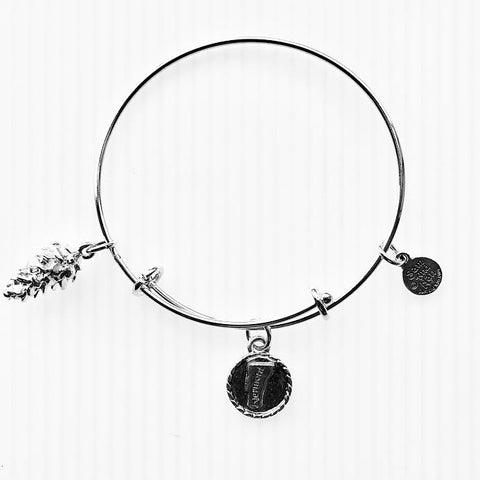Vermont State Pinecone Bangle Bracelet