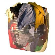 mixed bag of industrial rags