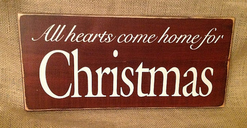 """All hearts come home for Christmas"""